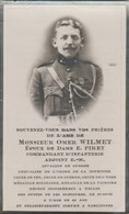 Soldat Belge ... Omer Wilmet , Commandant D'infanterie , Invalide De Guerre - Oorlog 1914-18