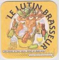 Sous Bock De Biere ; Brasserie LE LUTIN BRASSEUR  ROUEN 76 - Sous-bocks