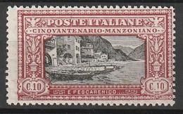 ITALIE - N°146 ** (1923) A.Manzoni - 1900-44 Victor Emmanuel III