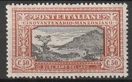 ITALIE - N°149 ** (1923) A.Manzoni - 1900-44 Victor Emmanuel III
