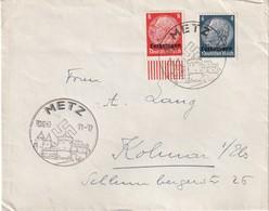 ALSACE-LORRAINE 1940 LETTRE DE METZ POUR KOLMAR - Alsace Lorraine