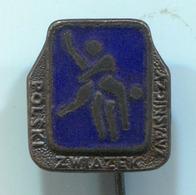 WRESTLING / LUTTE / RINGEN - Poland Federation, Association, Enamel, Vintage Pin, Badge, Abzeichen - Wrestling