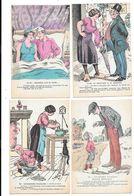 11150 - Lot De 10 CPA, Fantaisie, Humour : Gauloiseries Françaises, - Humor