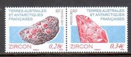TAAF - 2011 - Diptyque Minéraux : Zircon ** - Neufs