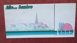 59 MAUBEUGE. CALENDRIER ALLO SAMBRE 1992 - Calendriers