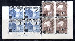 QUS - NORFOLK 1958 , Serie N. 21/22 In Fresche Quartine Integre ***  MNH . (2380A) - Isola Norfolk