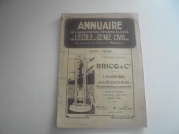 Annuaire De L Association Des Anciens Eleves De L Ecole Du Génie Civil Polytechnique 1924/25 - Livres, BD, Revues
