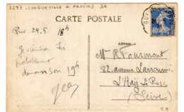 Convoyeur Ligne N° 2597 Longueville à Provins Type 3 Aller 1928 - Poste Ferroviaire
