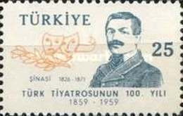 MH STAMPS Turkey - The 100th Anniversary Of Turkish Theatre   -1959 - 1921-... République