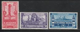 ITALIE - N°280/2 * (1931) Academie Navale De Livourne - 1900-44 Victor Emmanuel III