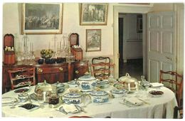 LOT DE 2 CPA - MOUNT VERNON - The Dining Room - Family Kitchen - Etats-Unis