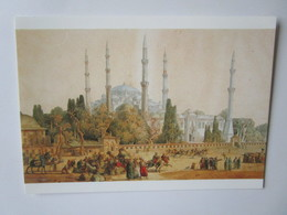 Louis-Francois Cassas. Azay-le-Ferron, 1756 - Versailles, 1827.  La Mosquee Du Sultan Ahmet A Constaintinople - Turquie