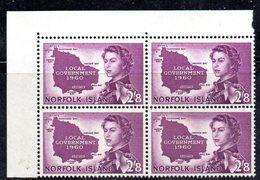 QUS - NORFOLK , La Serie Autonomia N. 48  In Fresca Quartina *** (2380A) - Isola Norfolk