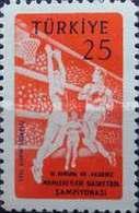 MH STAMPS Turkey - The 11th European And Mediterranean Bask... -1959 - 1921-... République
