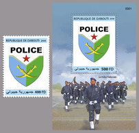 DJIBOUTI 2018 - National Police, 1v + S/S. Official Issue - Djibouti (1977-...)