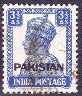 PAKISTAN 1947 KGVI 3.5a Bright Blue SG8 FINE USED - Pakistan