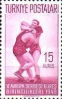 MH STAMPS Turkey - The 5th European Wrestling Championships...  -1949 - 1921-... Republic