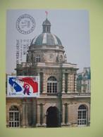 Carte 1998  Exposition Média Sénat  N° 3195 - Cachet Palais Du Luxembourg La Constitution De La V è République - Expositions