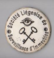 Petite Plaque émaillée Liégeoise - Autres Collections