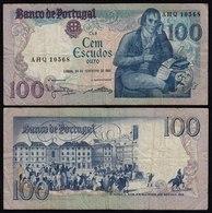 Portugal - 100 Escudos Banknote 1981 - Pick 178b F  (4)   (21808 - Portugal