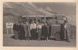 Photographie  : Autocar Dans Les Années 1950 , Col Du Galibier , Animation - Bus & Autocars