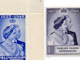 FALKLAND ISLAND 1948 / Superbe Série 2 Valeurs Dentelées MNH - Polar Exploradores Y Celebridades