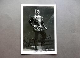 Autografo Mario Petri Fotografia Baritono Basso Don Giovanni Villani 1953 Lirica - Autografi