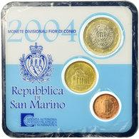 San Marino, Set, 1 Cent, 10 Cents, 1 Euro, 2004, Bi-Metallic - San Marino