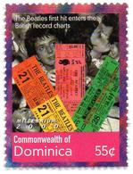 DOMINICA 1v MNH** Beatles Songs Singers English Rock Band McCartney Lennon Starr Harrisson - Cantantes