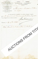 TOURNAI - PARIS  - Lettre De 1860 - H. CASTERMAN - EDITEUR -  Imprimeur-libraire - Belgique