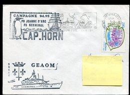 GERMINAL  Campagne 94-95  CAP HORN + GEAOM + Flamme P.H. Jeanne D'Arc  Campagne Du Trentenaire Du 1er Février 1994 - Postmark Collection (Covers)