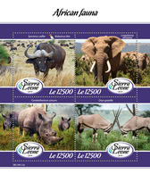 SIERRA LEONE 2019 - African Fauna. Official Issue. - Postzegels