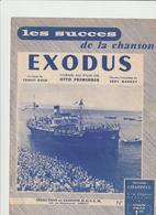 "(GEO1) EXODUS ,  Paroles EDDY MARNAY , Musique ERNEST GOLD , Du Film "" Otto Preminger "" - Partitions Musicales Anciennes"