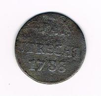 // NEDERLAND  TRECHT   1 DUIT  1788 - [ 1] …-1795 : Période Ancienne