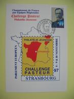 Carte 1997 - N° 2925 Cachet Strasbourg - Challenge Pasteur Philatélie Jeunesse - Health