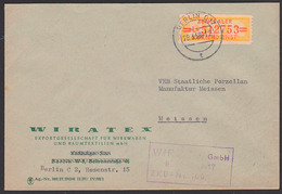 ZKD B17L BERLIN O17, WIRATEX Exportgesellschaft Wirkwaren Raumtextilien Nach Meissen,  Zentraler Kurierdienst Der DDR - DDR