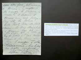 Autografo Duchessa Vittoria Capece Galeota Lettera Ginevra Les Bergues 1934 - Autografi