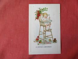 Child In High Chair  Joyous Christmas Ref 3231 - Children
