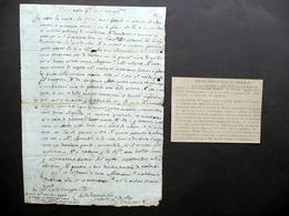 Autografo Tiziano Vecellio Tizianello Lettera Cadore 26/571612 Eugenio Da Verona - Autographes