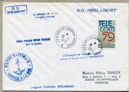 D.O. BERLAIMONT + BREST LANINON MARINE 1980 - Marcophilie (Lettres)