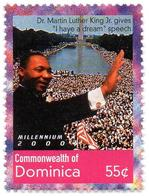 DOMINICA 1v MNH** 1360 Martin Luther King I Have A Dream Speech Racial Segregation Racism Rassismus Racismo - Martin Luther King