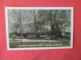 -Riverside Inn & Resort Cambridge Springs  Pennsylvania  >  Ref 3231 - United States