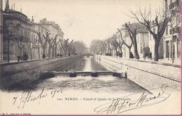 -    30 -- NIMES -- CANAL ET QUAIS DE LA FONTAINE   --1902 -- ANIMATION - Nîmes