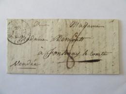 Lettre Gray Vers Fontenay Le Comte - Cachet Type 11 + Cachet à Date Type A Du 4 Mars 1831 Et Chiffre-taxe Manuscrit - Marcophilie (Lettres)