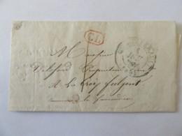 Lettre Châtellerault Vers Faucaudière (?) - Cachet Type 13 Plus CL Rouge - 1840 - Postmark Collection (Covers)