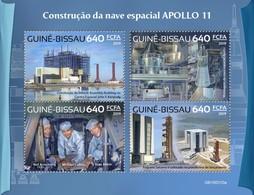 Guinea Bissau 2019, Space, Apollo 11, 4val - Guinée-Bissau