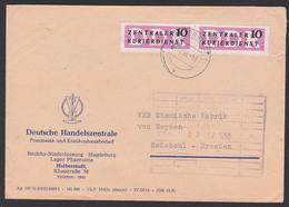 DDR ZKD B6(2) Brief Magdeburg ZKD-Streifen Abs. Pharmazie Krankenhausbedarf. 7.12.56, Zentraler Kurierdienst Der DDR - Servizio