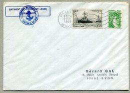 BATIMENT DE TRANSPORT LEGER CHAMPLAIN + Flamme 974 LE PORT REUNION 1979 - Postmark Collection (Covers)