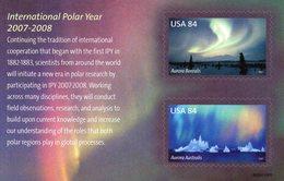 USA 2007-2008 / Superbe Bloc 2 Valeurs Dentelure Figurée MNH - Année Polaire Internationale