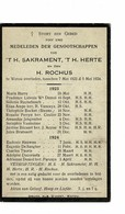 Watou Mei 1923 - Mei 1924 Gedachtenis Overleden Parochianen H Richus En ' T H Hert En 't H Sakrament - Décès